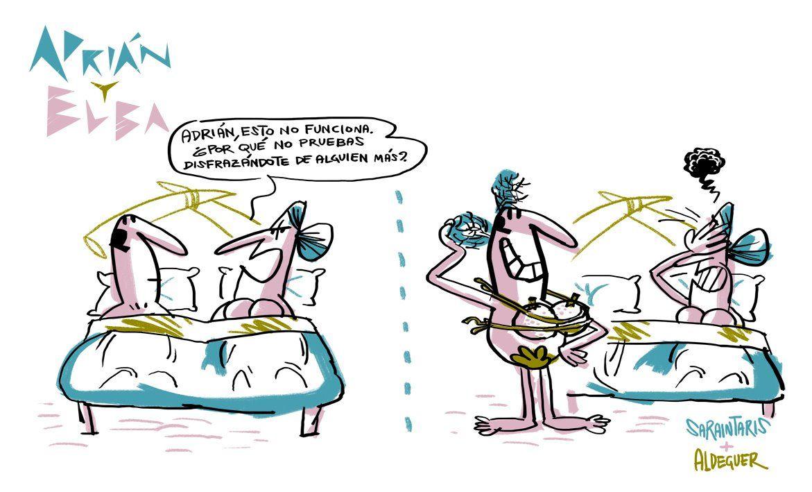 Adrián y Elba #13 (Más de Adrián y Elba en adrianyelba.com #webcomic #comic)