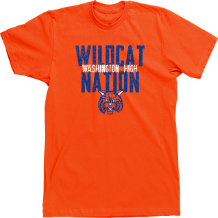 mascot t shirts designs high school custom tshirts wildcat nation