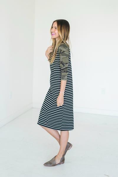 Baseball Dress - Camo - Mindy Mae's Market