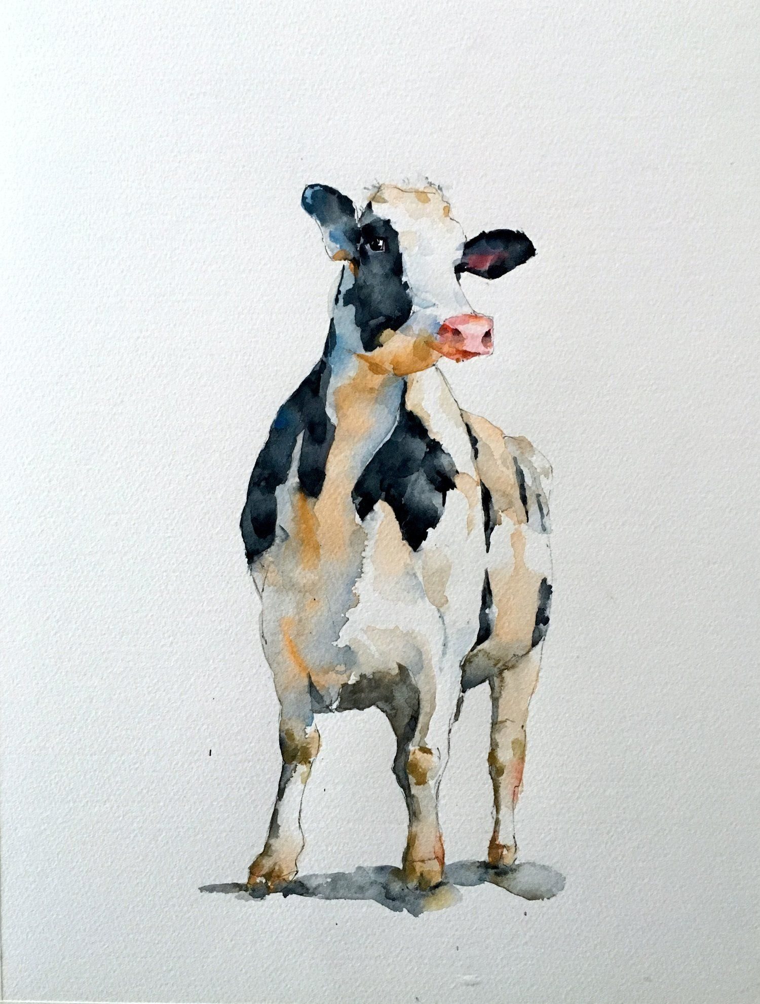Standing Cow Michele Clamp Art Cow Painting Cow Art Farm Animal Paintings