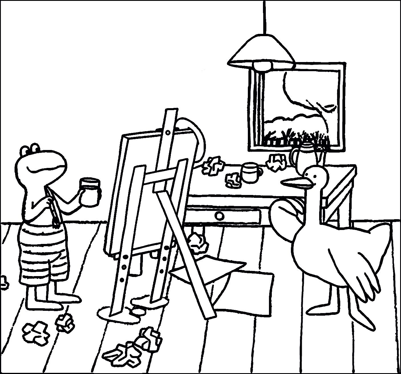 Kikker Schildert Max Velthuijs Peuter Kunst Kunst Kinderen Kleur Kunst