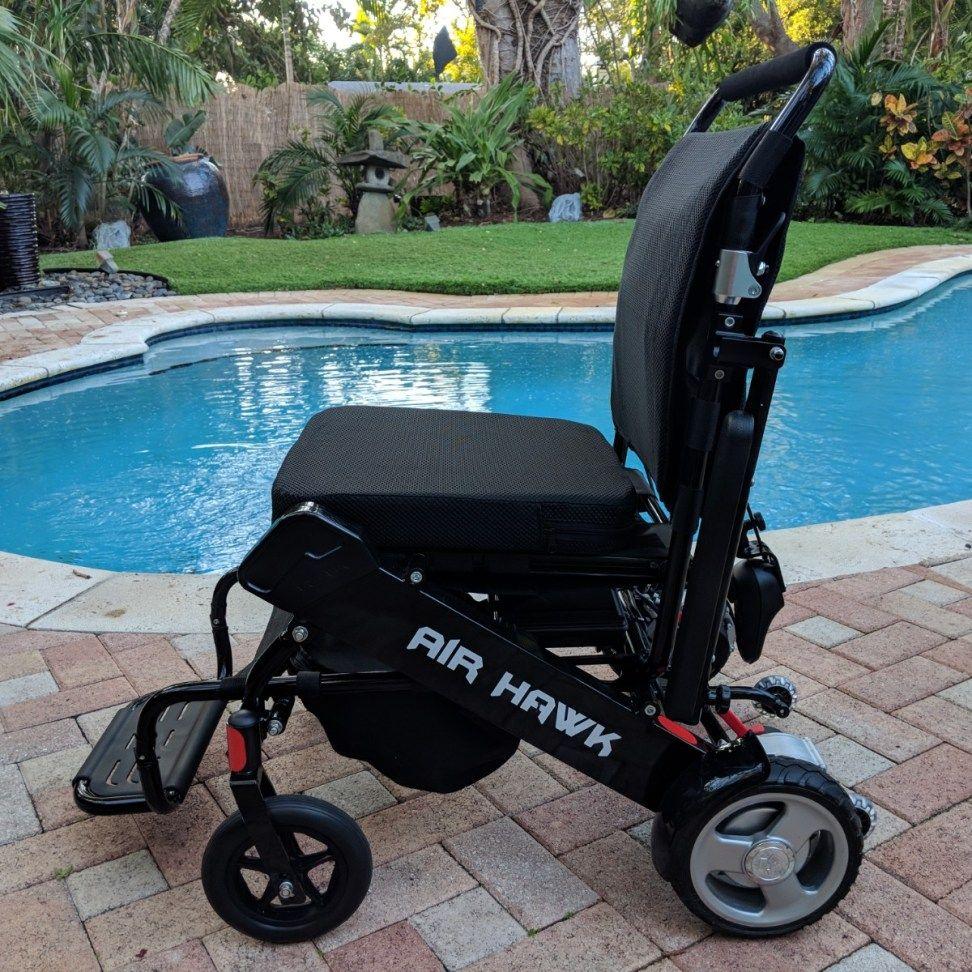 Refurbished Used Air Hawk Power Folding Wheelchairs Powered