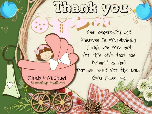 Baby Shower Thank You Notes Samples Wordings And Messages  Baby
