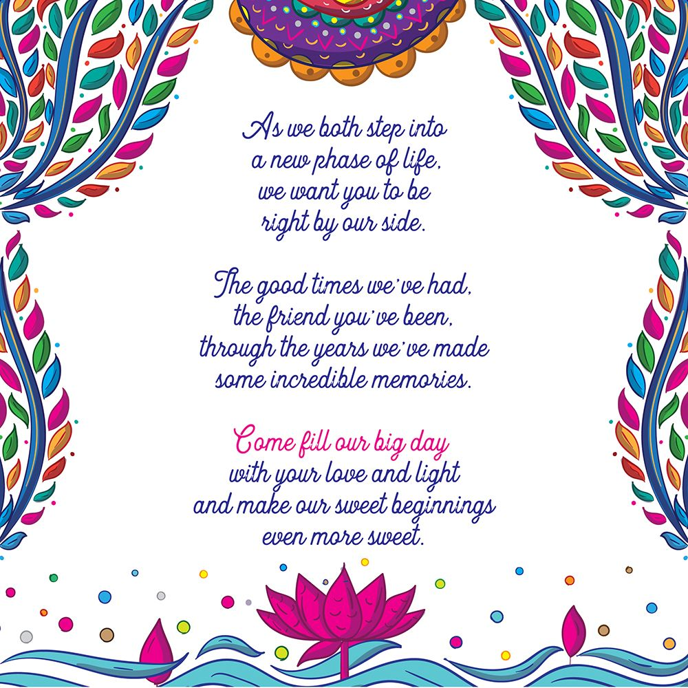 Indian Wedding Invitation Design And Illustration By Scd