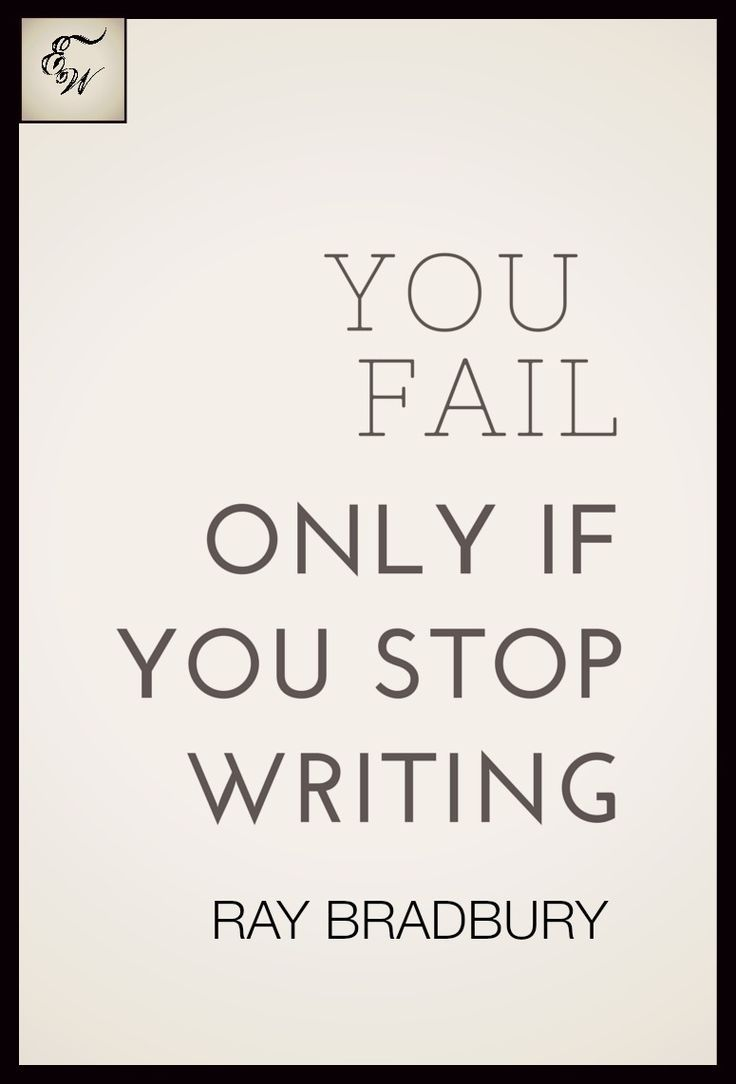 Write. Write away.. don't ever stop!