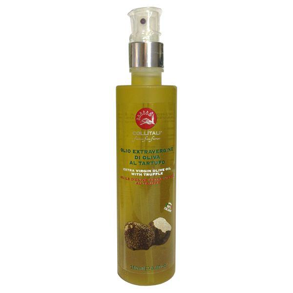 Aceite de oliva virgen extra con trufa. Collitali, origen Italia. http://www.fidalgovecino.com/tienda/108-spray-aceite-de-oliva-virgen-extra-con-trufa-collitali-7200365.html