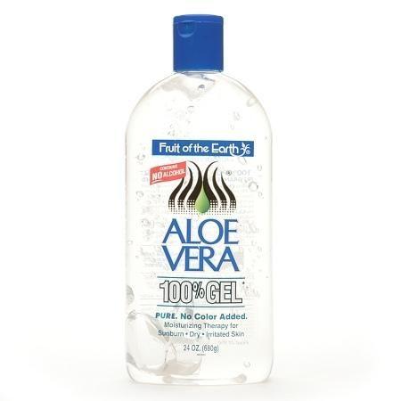 Fruit Of The Earth Aloe Vera 100% Gel 24 Oz 2 Pack Crystal Clear