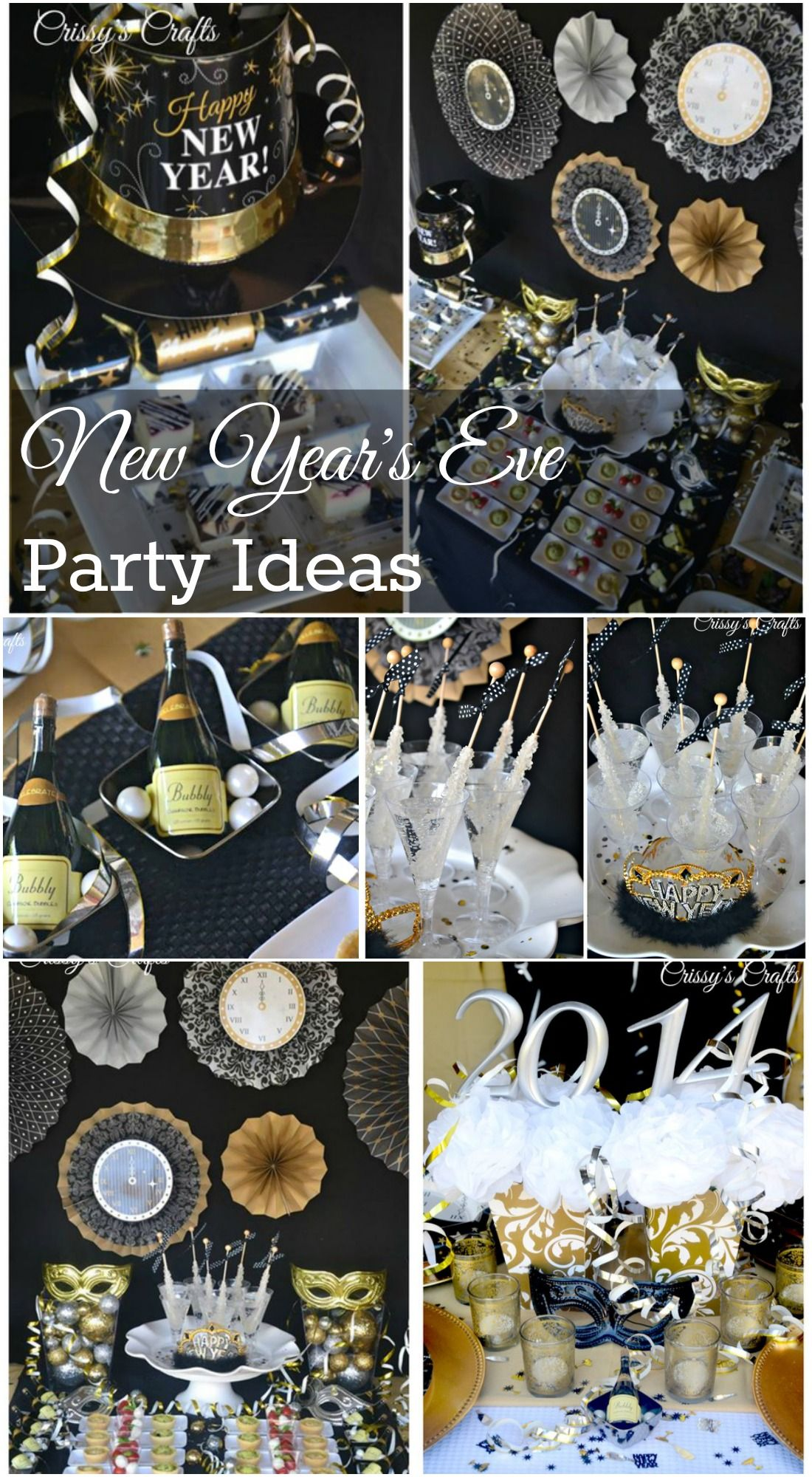 Great New Year S Eve Party Ideas See More Party Ideas At Catchmyparty Com Newyearseve Par Eve Parties New Years Eve Decorations New Year S Eve Celebrations