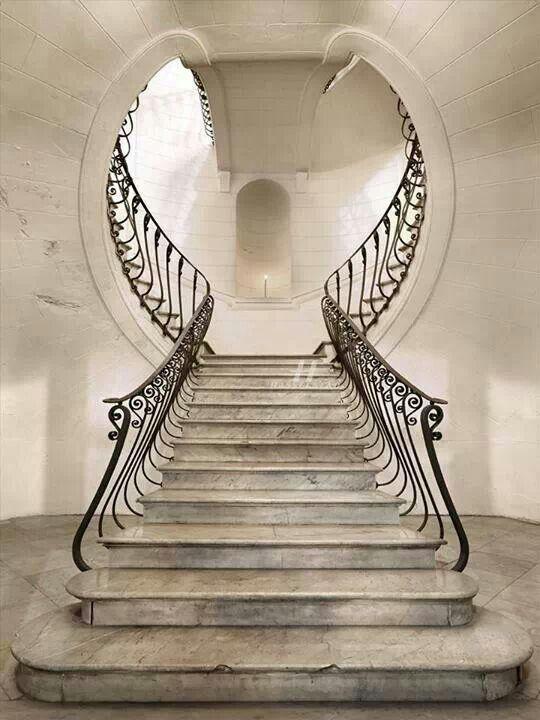 White Grand Staircase