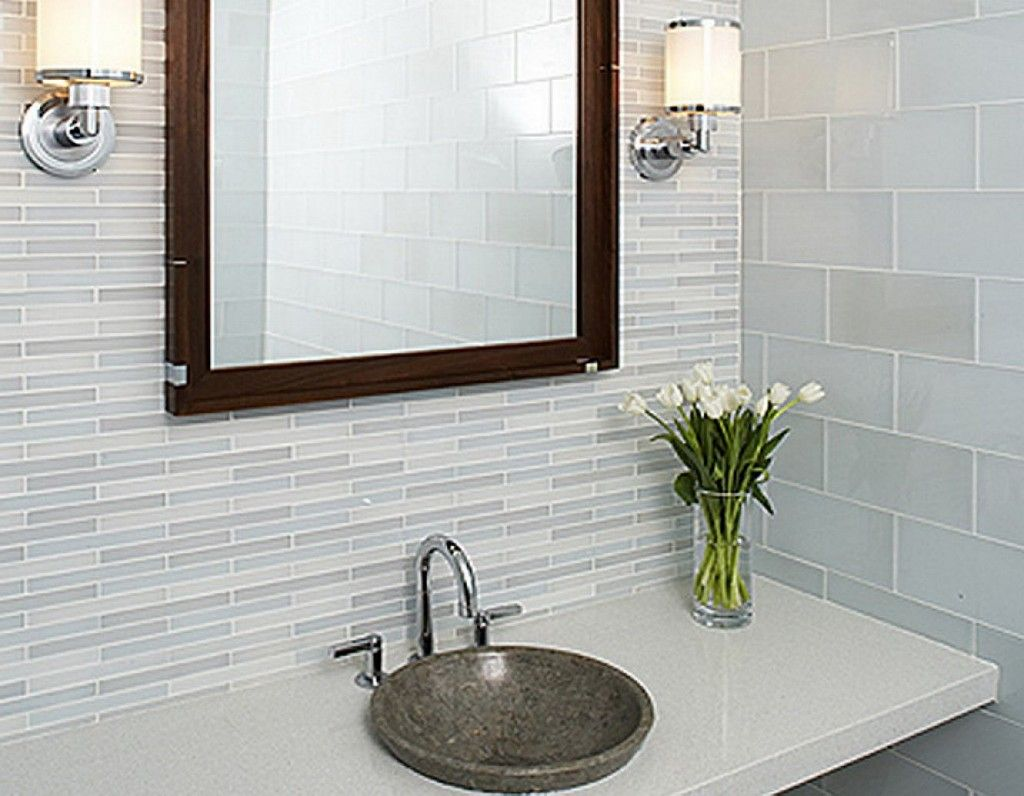 Bathroom ideas for small spaces - Modern Bathroom Wall Tile Patterns Ideas For Small Space