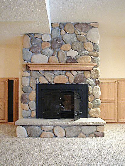 Stone veneer fireplace stone fireplace cachedriver for Fireplace material options