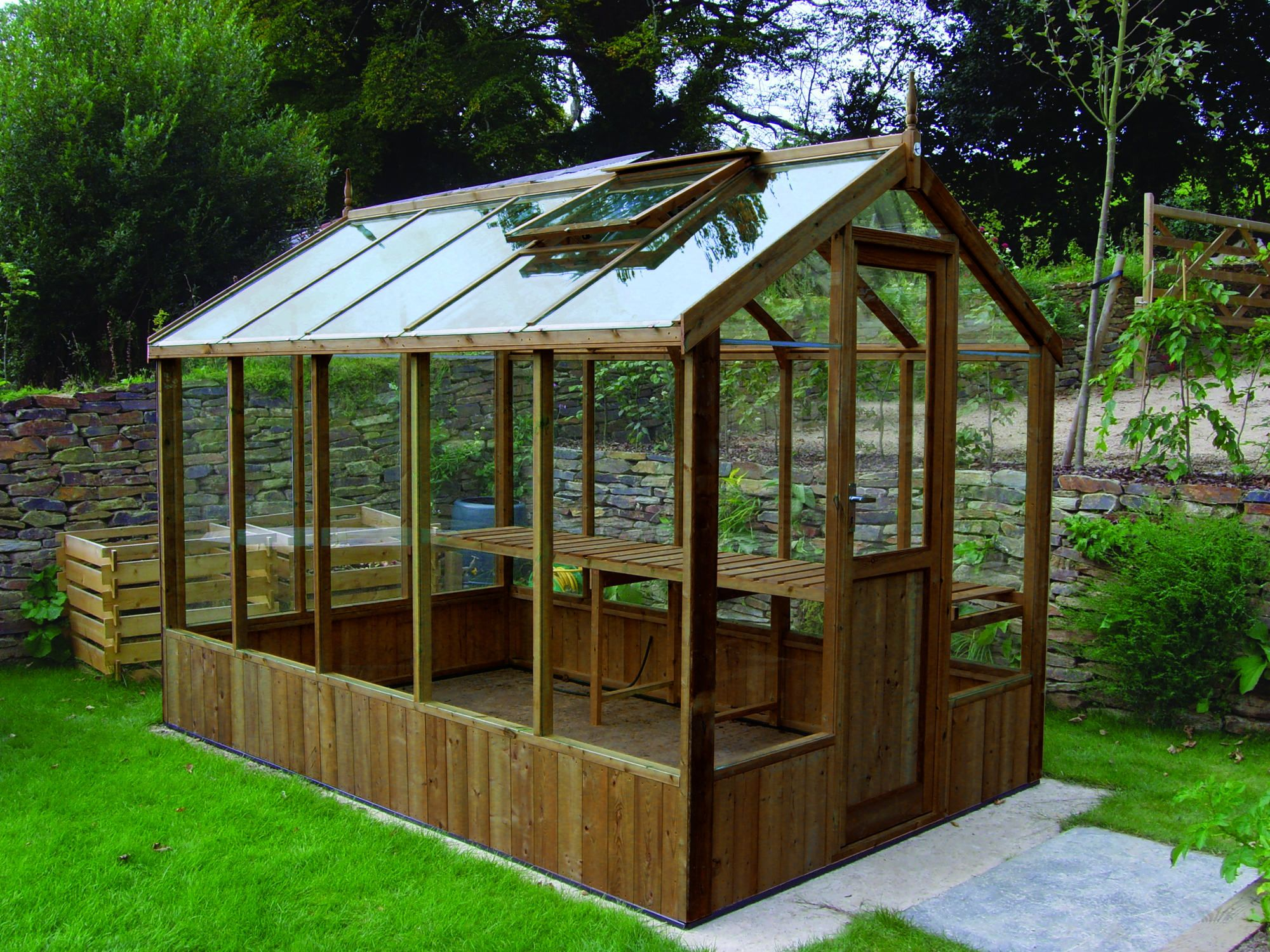 Swallow Kingfisher 6x6 Wooden Greenhouse