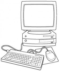 Computer Coloring Page Coloring Pages Zoo Coloring Pages Preschool Fun