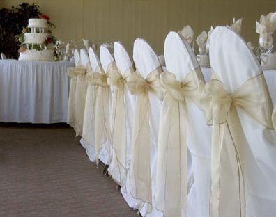 Gold Organza Chair Sash Wedding Reception Chairs Chair Covers