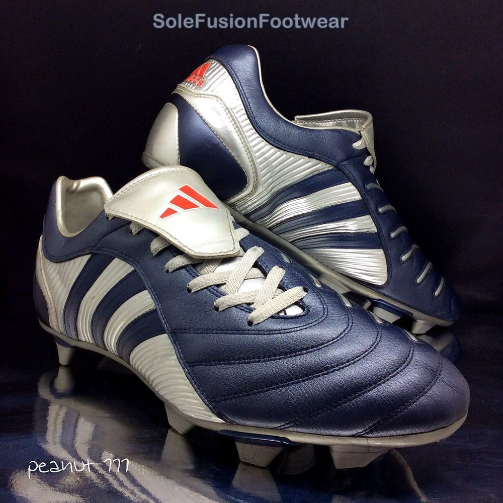 low priced f160a 266c5 ... white blue ... adidas Mens Predator Pulse Football Boots sz 12 TRX  Pulsado Soccer Cleat US 12.5 eBay . ...