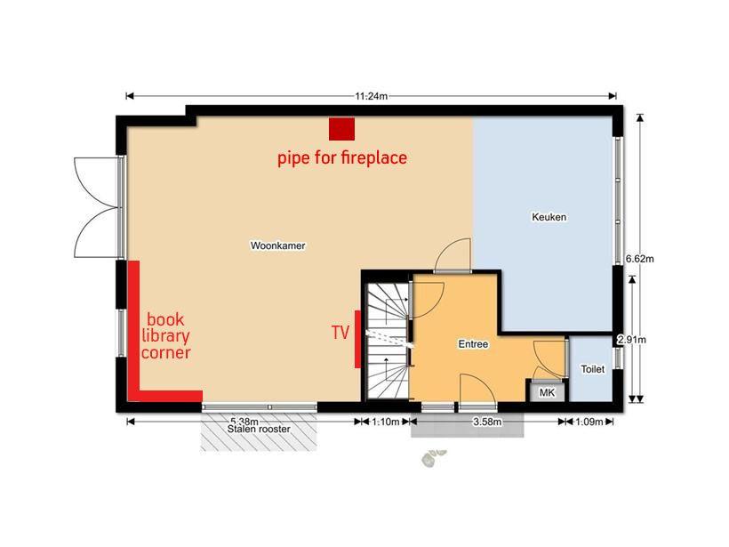Woonkamer plattegrond | Mijn huis | Pinterest