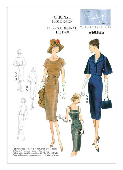 V9082   Repro Schnittmuster   Pinterest   Muster, Schnittmuster und Mode