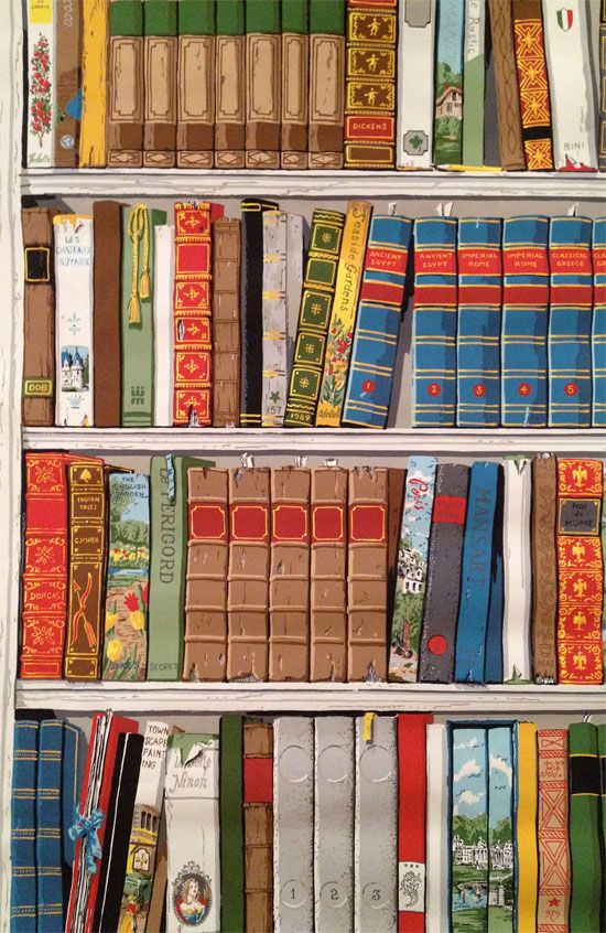 100 colourful bookcase wall mural colourful green for Cache fils mural