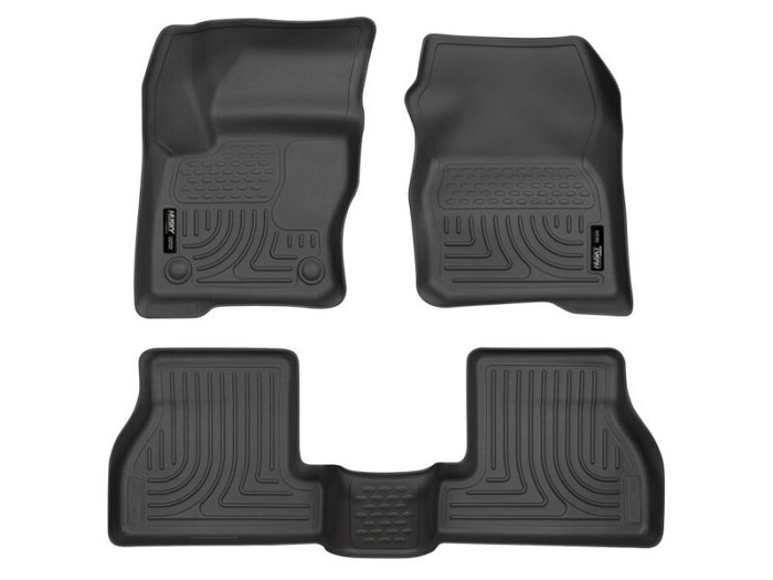 2013 2017 Focus St Husky Weatherbeater Front Rear Floor Mats Black 98771 In 2020 Husky Floor Mats Floor Liners