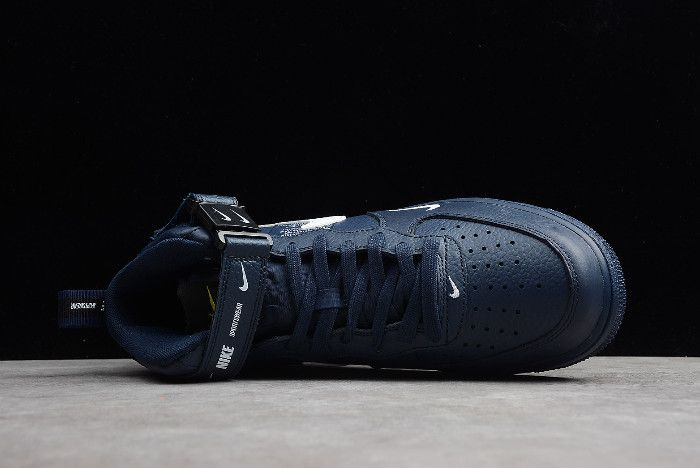quite nice 6d554 5f67d Buy Nike Air Force 1  07 Mid Navy Obsidian White 804609-403-2