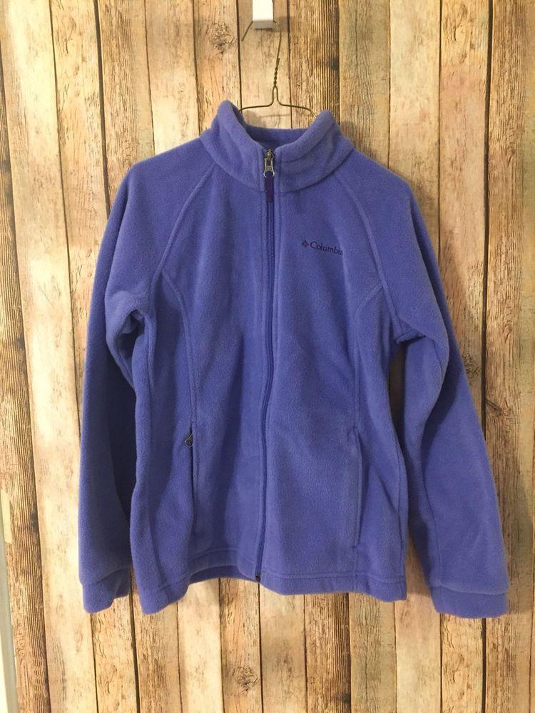 85526d9cb842 Columbia Jacket Size Medium 10 12 Youth Girls Fleece Zip Up Purple ...
