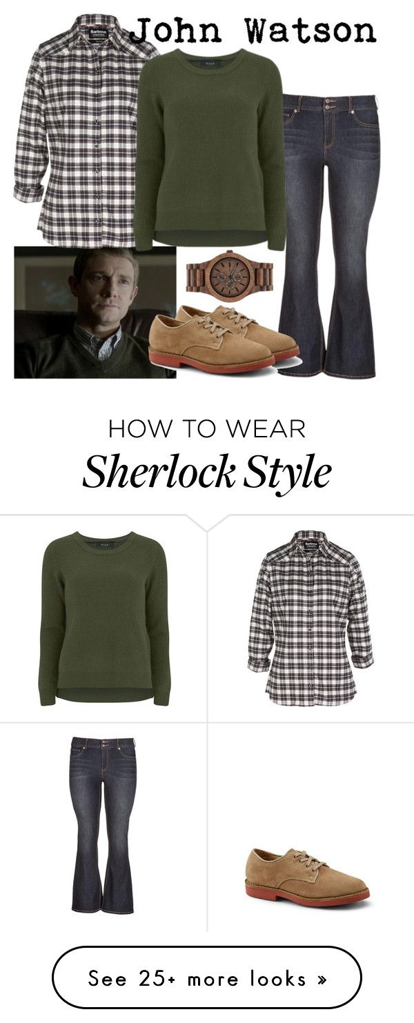 """""""John Watson: A Study in Pink"""" by fandom-wardrobes on Polyvore featuring Episode, maurices, Barbour, VILA, WeWood, women's clothing, women's fashion, women, female and woman"""