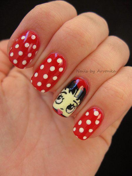 Betty Boop Nails Crafty Pinterest Betty Boop
