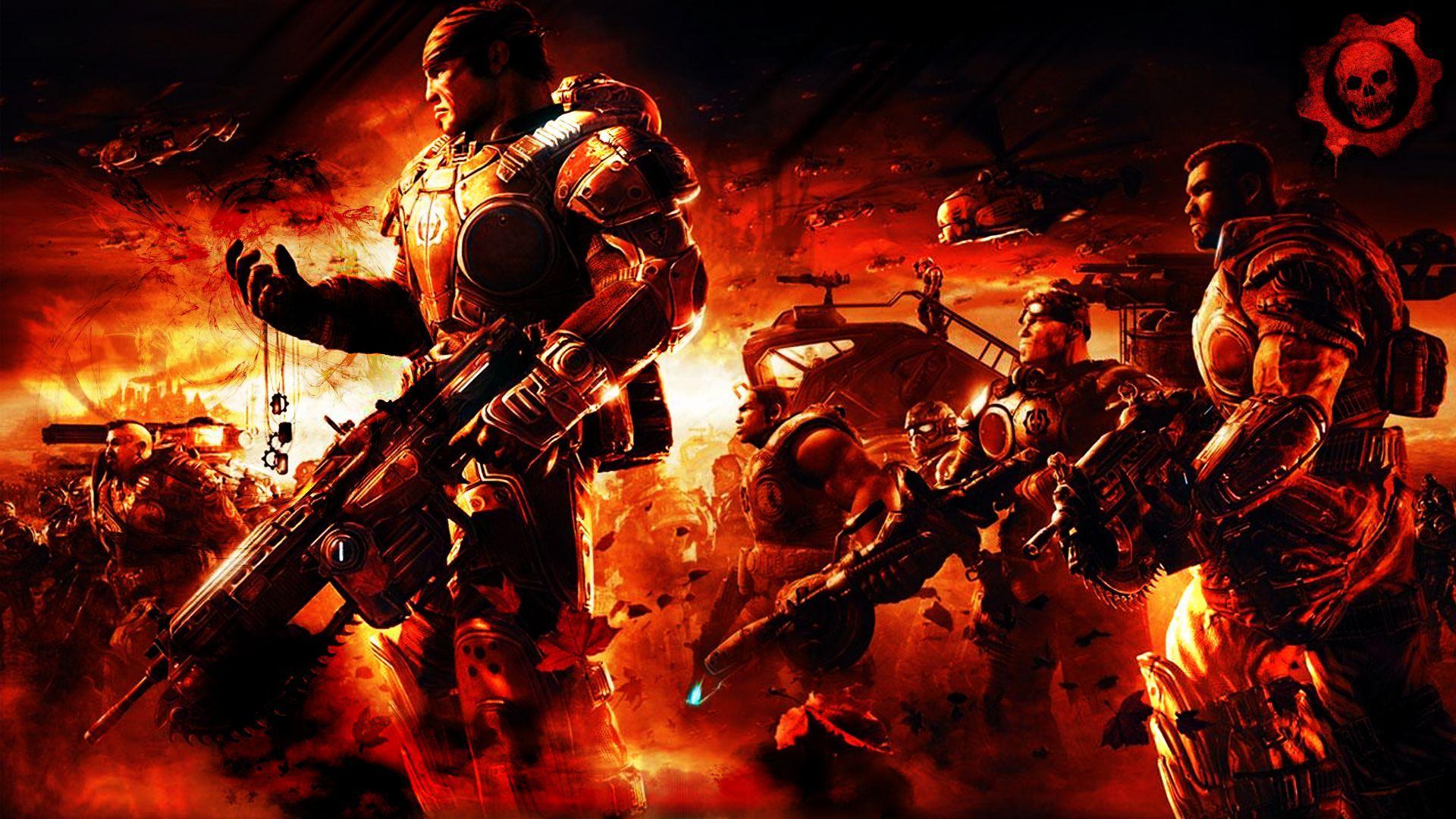 Gears Of War 2 Wallpaper Gears Of War Gears Of War 2 Art Wallpaper