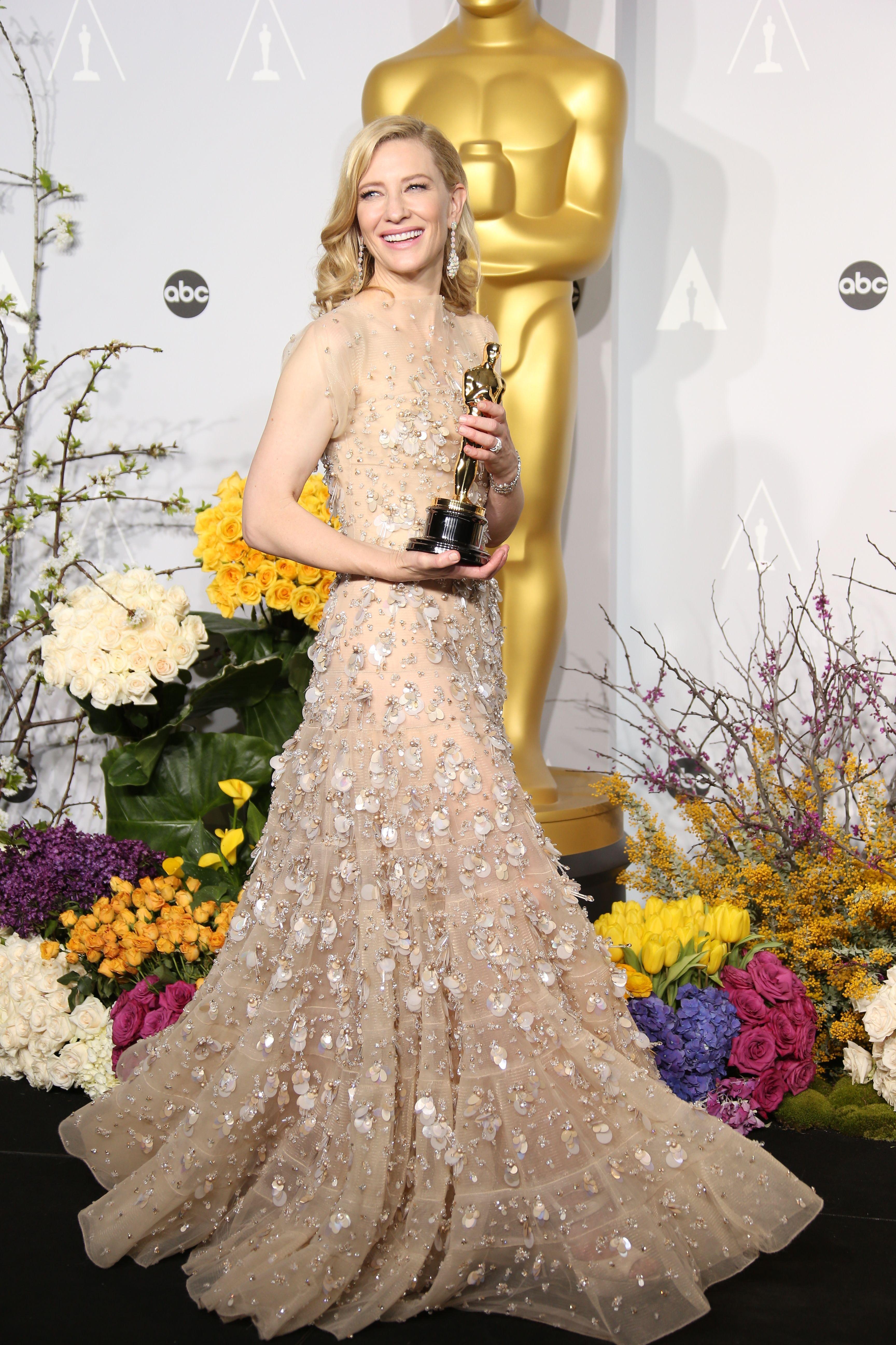 Cate Blanchett - winner of the Best Actress Oscar for her ...