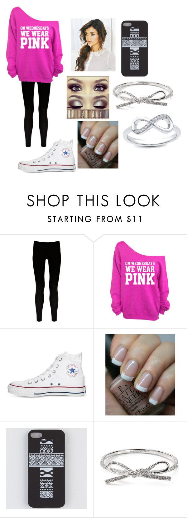 """Casual #5"" by hs82901 ❤ liked on Polyvore featuring Warehouse, Converse, OPI and Kate Spade"