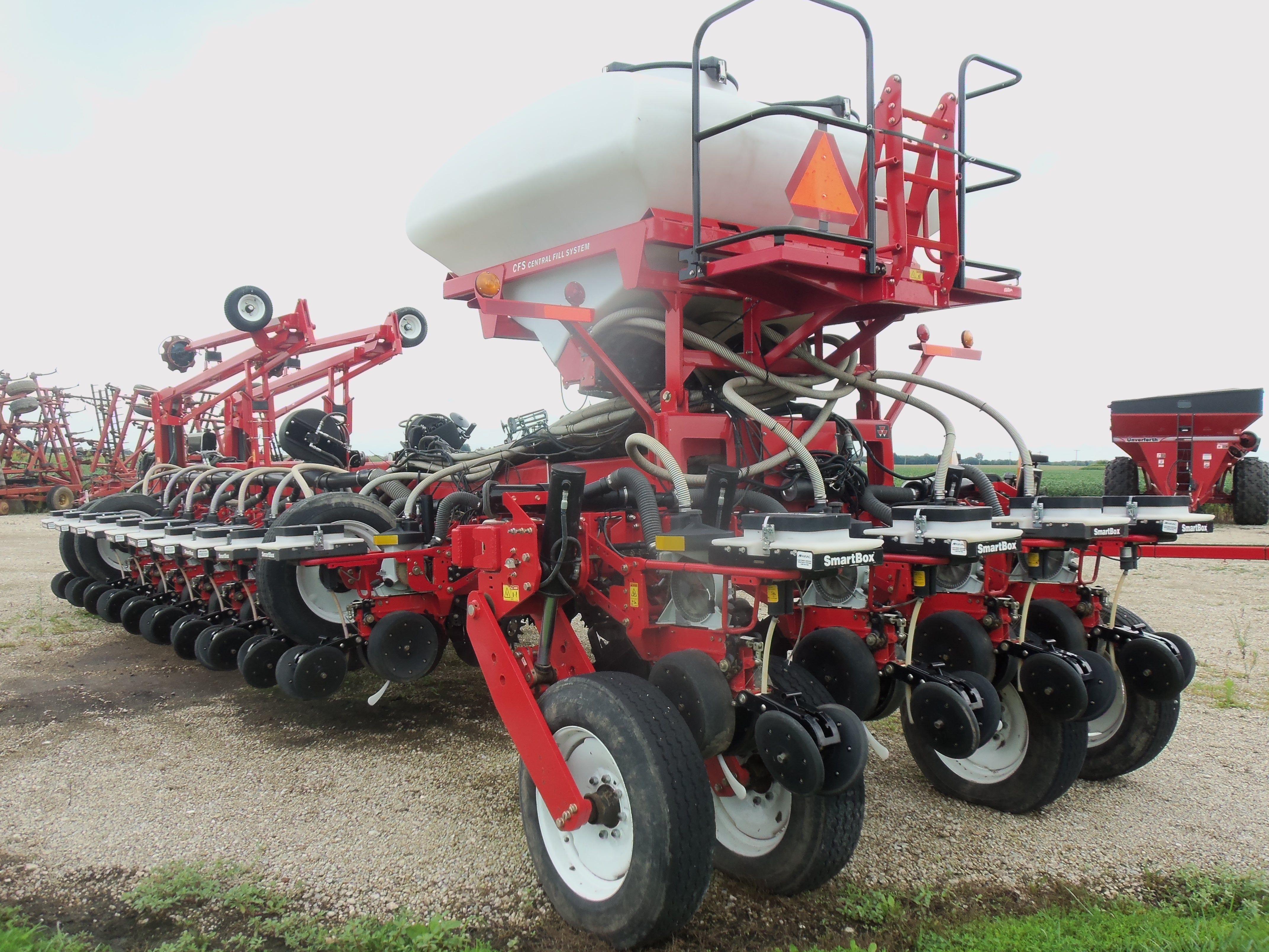 Rear of  22 row White 8800 corn planter