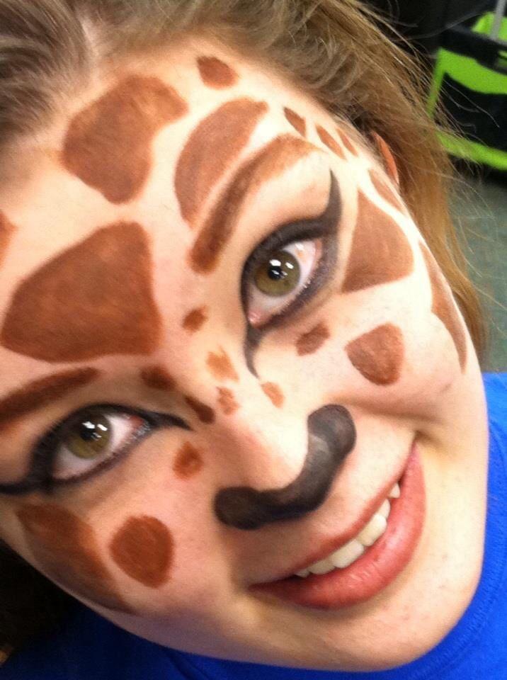 Face painting giraffe Model: Jamielee Jakubowski Makeup: Samantha ...