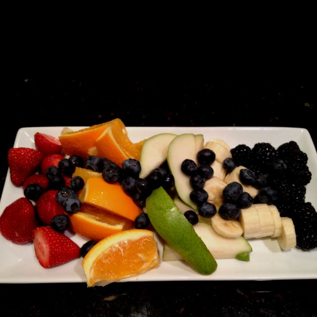 Fruit tray! A Robertson family tradition