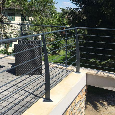 Ce garde corps sera du plus bel effet sur votre terrasse, mezzanine - terrasse sur pilotis metal