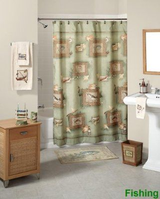 Fishing Shower Curtain And Bath Decor Know Lots Of Guys