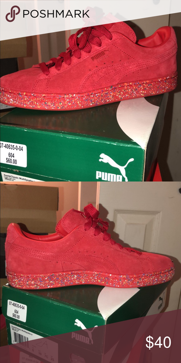 red pumas size 7
