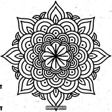 Big Kolam Mehindi Mandalas Pintadas Dibujos Y Mandalas