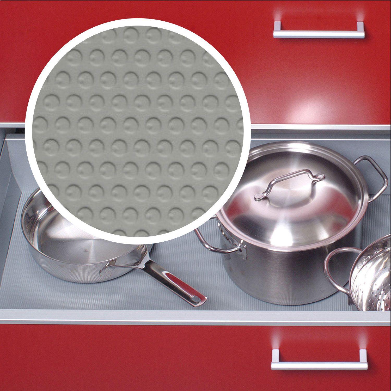 Einlegematte In Silbergrau Als Schutz Fur Kuchenschubladen Und Schranke Kuche Antirutschmatten Kuchenschubladen