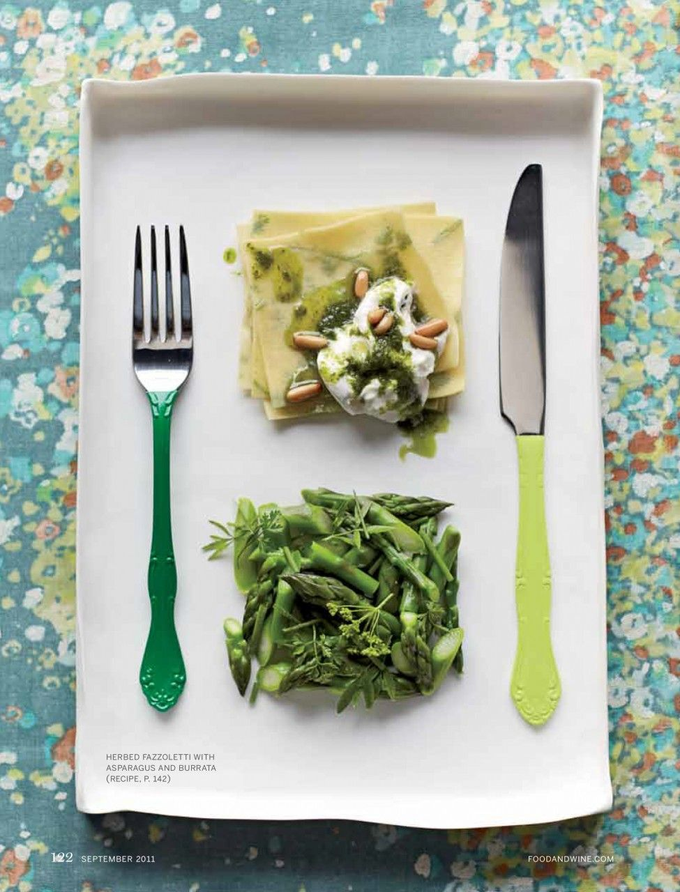 Vegetables alison attenborough yum pinterest art director herbed fazzoletti w asparagus this beautiful dish works wonderfully with a cold glass of white wine forumfinder Choice Image