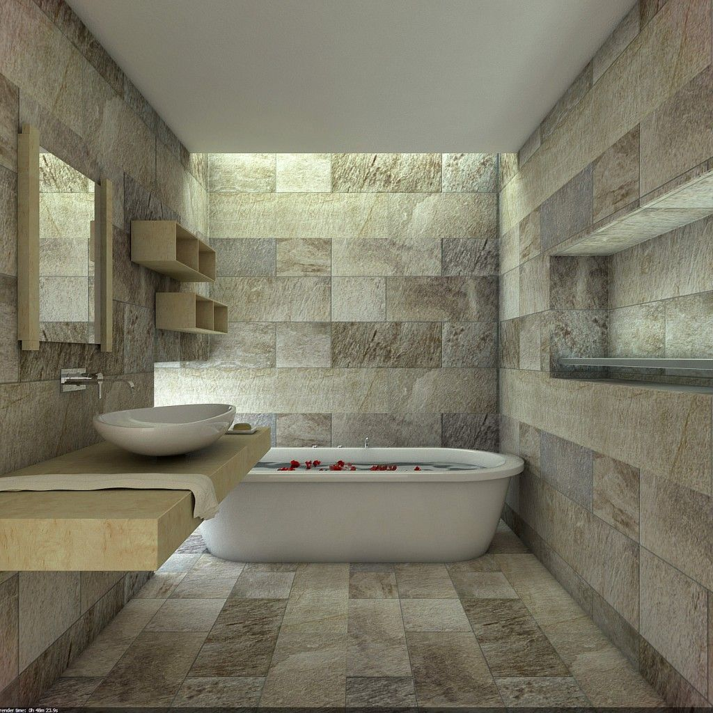 14 Striking Bathrooms with Stone Walls | Stone walls, Bathroom ...