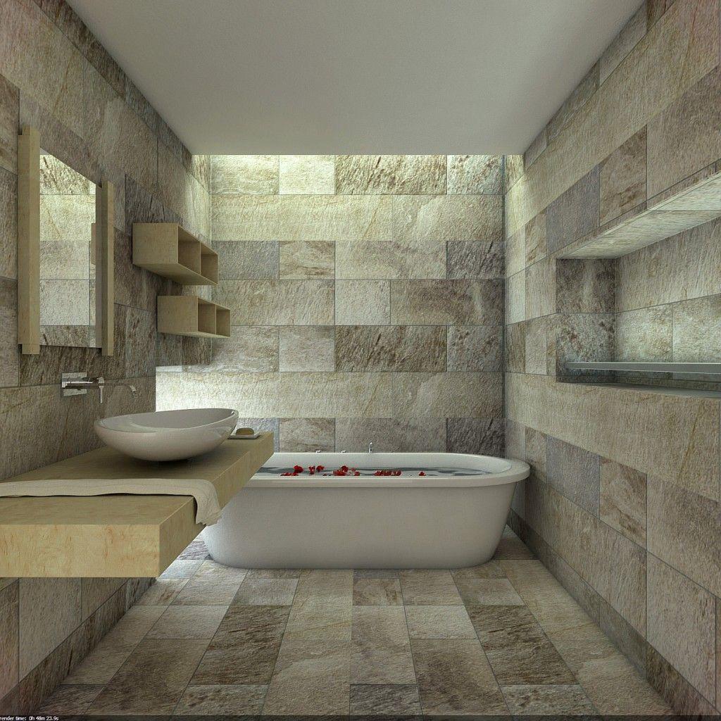 14 Striking Bathrooms with Stone Walls Unique Interior Styles – Stone Tile Bathroom Wall