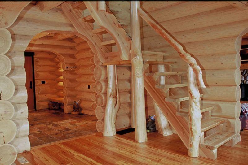 Scale interne in legno rustiche cerca con google - Immagini scale in legno ...