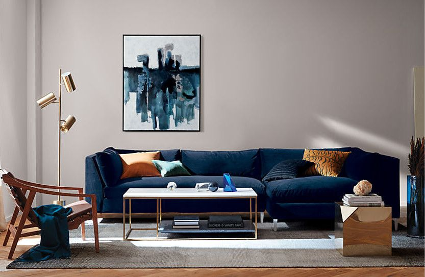 30 Of The Best Places To Buy A Sofa Or Couch Online Blue Sofas Living Room Blue Sofa Living Velvet Sofa Living Room