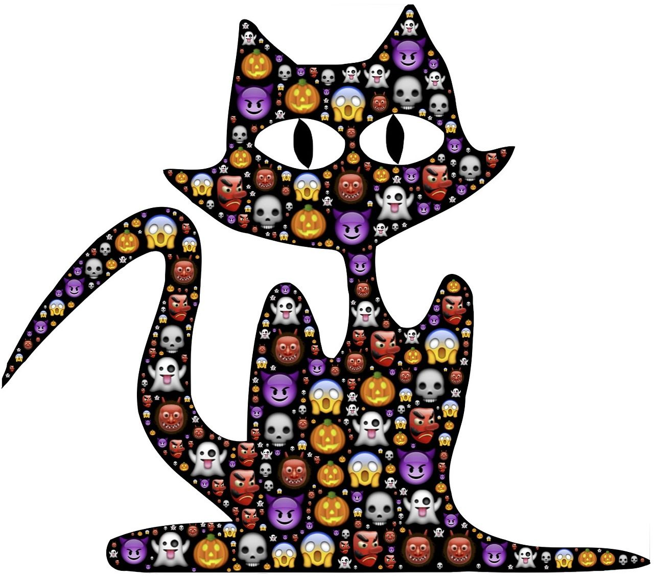 Free Image on Pixabay Cat, Halloween, Emoji, Scary (With