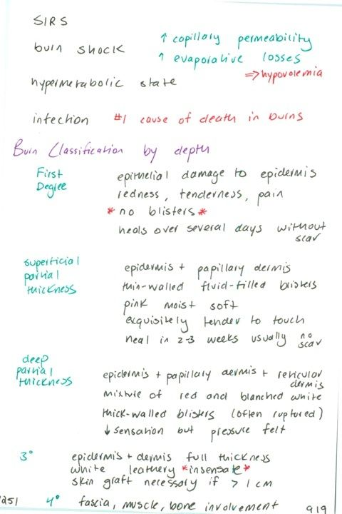 1251 Burn Complications Classification Of Burns By Depth