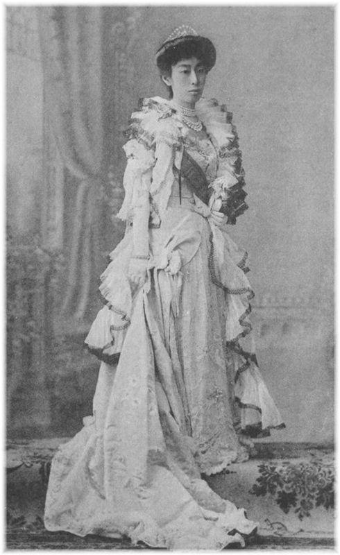金沢藩主前田慶寧の娘 慰子 皇族 古写真 古い写真
