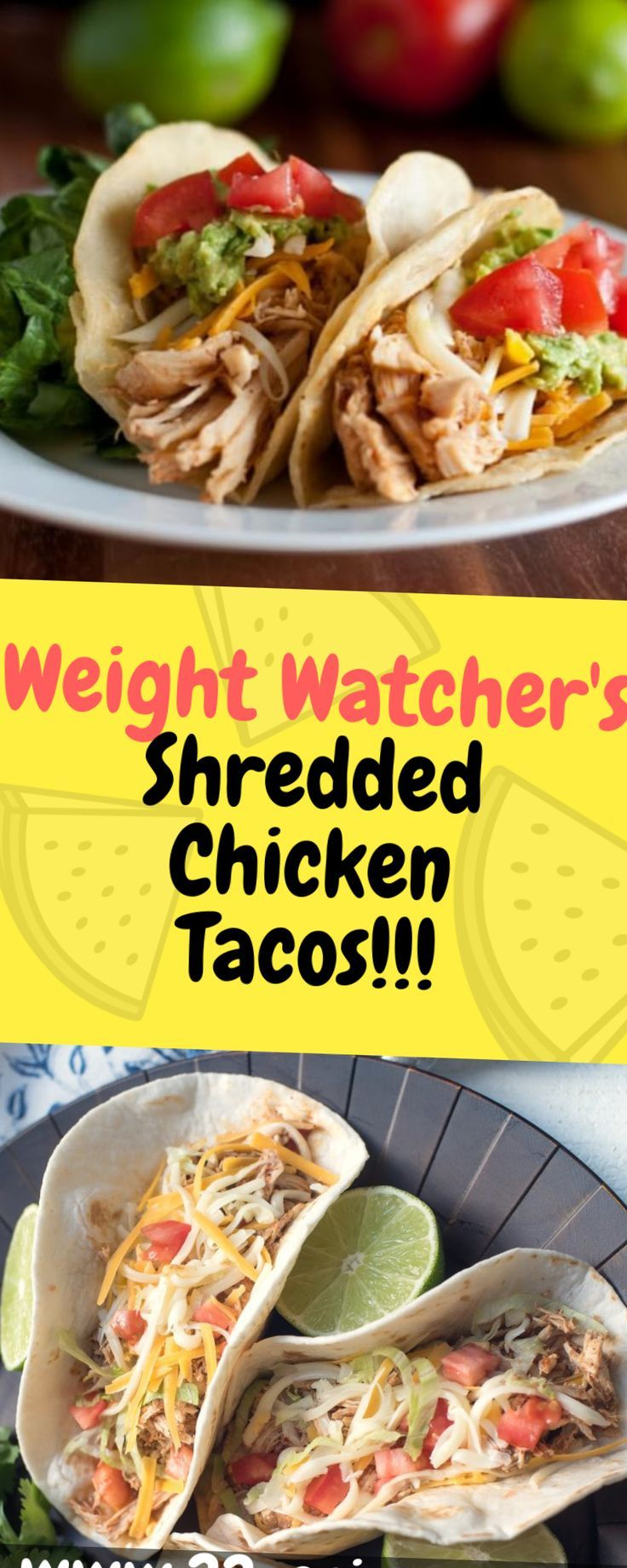 Weight Watchers Shredded Chicken Tacos has four simple ingredients thats made in... -  #chick... #shreddedchickentacos