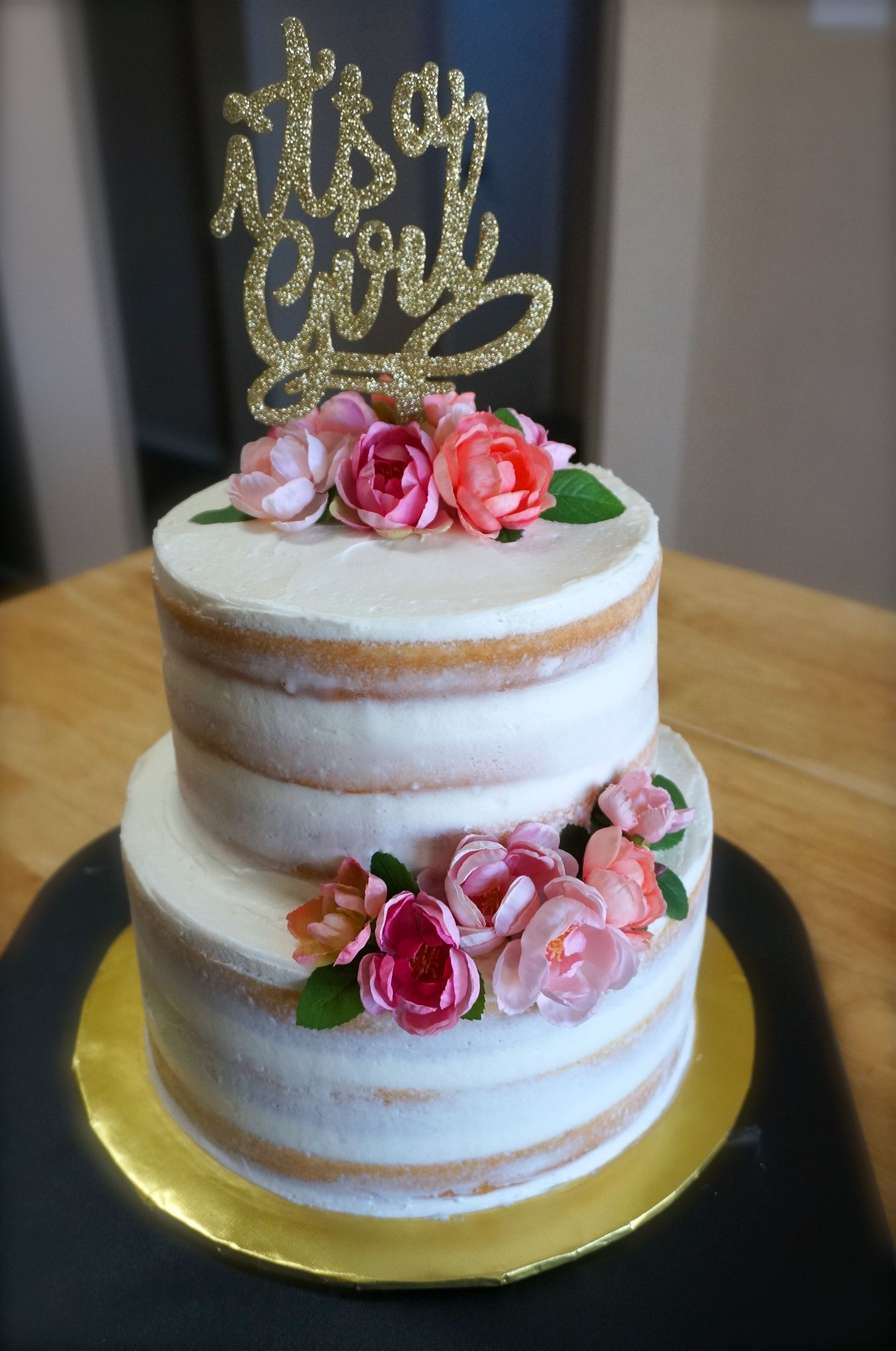 Semi Naked Baby Shower Cake — Rach Makes Cakes