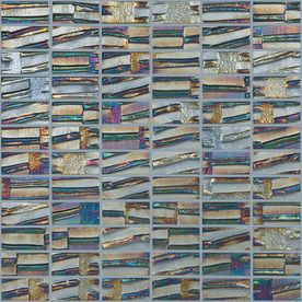 Elida Ceramica 12-in x 12-in Textured Gunstock Glass Mosaic Uniform Squares Wall Tile (Actuals 12-1/2-in x 12-1/2-in)