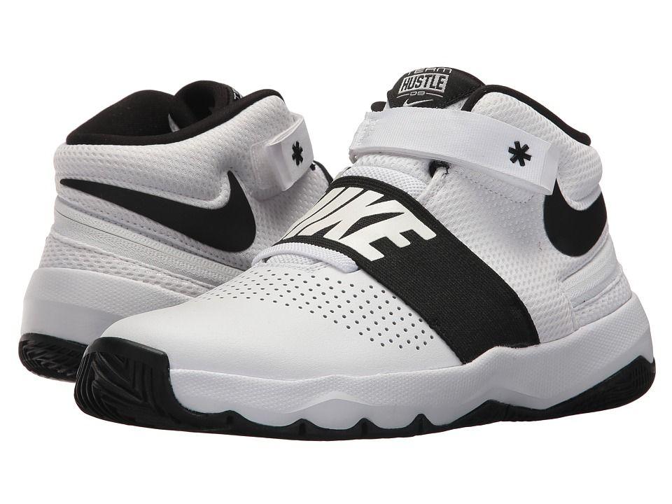 7d39eac11dc2 Nike Kids Team Hustle D8 Flyease (Big Kid) (White Black) Kids Shoes  top
